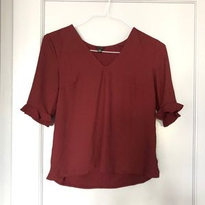 Ann Taylor Top With Ruffle Detail